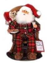Milk & Cookies Rocking Chair Santa Figurine