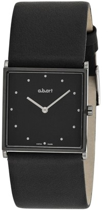 D+art's Women's Quartz Watch with Grey Dial Analogue Display and Black Leather Strap E550