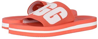 UGG Zuma Graphic (Pop Coral) Women's Sandals