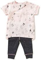 Petit Lem Baby Girls 3-24 Months Printed Cactus Top & Leggings Set