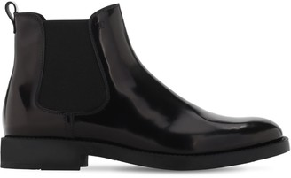 Tod's 20mm Brushed Leather Ankle Boots