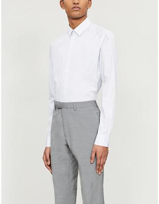 Sandro Fine-striped cotton shirt