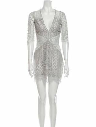 For Love & Lemons Lace Pattern Mini Dress w/ Tags Grey