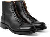 O'keeffe - Peaky Pebble-grain Leather Boots