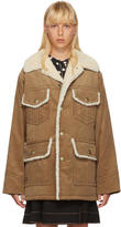 Marc Jacobs Tan Oversized Corduroy Coat