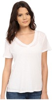 Splendid Slub Jersey V-Neck Women's Short Sleeve Pullover