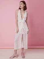 For Love & Lemons Sweet Disposition Maxi Dress in Ivory/Floral