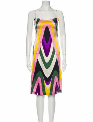 Emilio Pucci Silk Knee-Length Dress Pink