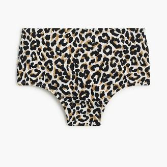 J.Crew Leopard high-waisted bikini bottom