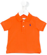 Ralph Lauren logo embroidered polo shirt - kids - Cotton - 3 mth