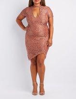 Charlotte Russe Plus Size Lace Choker Neck Bodycon Dress
