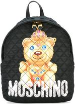 Moschino quilted bear backpack - women - Calf Leather/Polyester - One Size