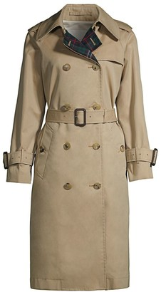 MACKINTOSH Muirkirk Wool Plaid & Cotton Twill Trench Coat