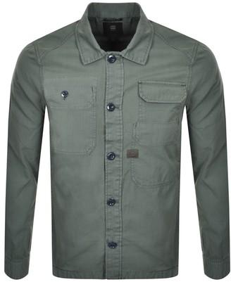G Star Raw Multi Pocket Long Sleeved Shirt Green