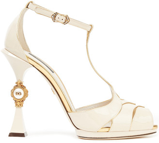 Dolce & Gabbana Embellished Patent-leather Sandals