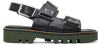 Dries Van Noten Black Leather Sandals