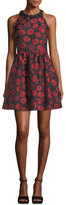 Kate Spade Sleeveless T-Back Poppy Jacquard Dress