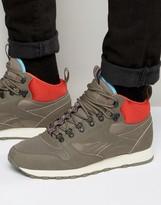 Reebok Classic Leather Mid Winter Sneakers In Beige AQ9664