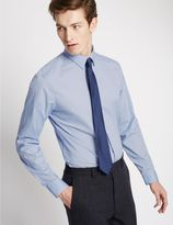Marks and Spencer Cotton Rich Easy to Iron Slim Fit Shirt