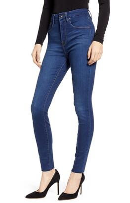 Good American Good Waist High Waist Raw Hem Skinny Jeans
