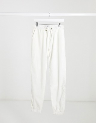 Sixth June reflective cargo pants in white