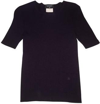 Chanel Purple Cashmere Top for Women Vintage