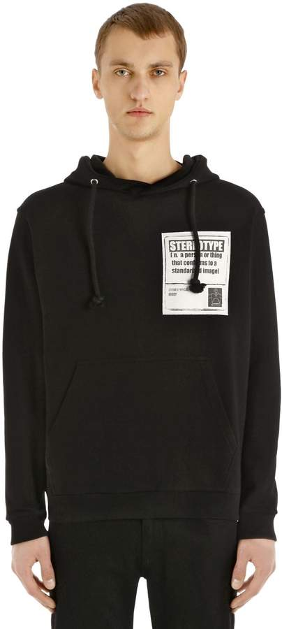 Maison Margiela Hooded Cotton Sweatshirt With Patch