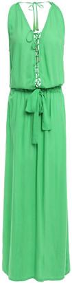 Melissa Odabash Jacquie Lace-up Voile Maxi Dress