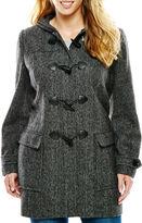 Liz Claiborne Wool-Blend Toggle Coat - Tall
