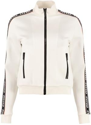 Miu Miu Full Zip Sweatshirt With Side Stripes