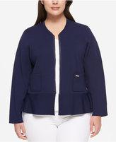 Tommy Hilfiger Plus Size Peplum Jacket