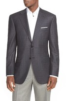 Canali Men's Classic Fit Check Wool Sport Coat