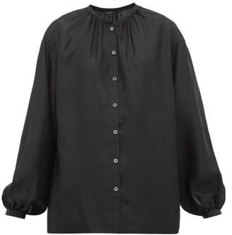 Joseph Bowell Balloon-sleeved Silk Blouse - Black