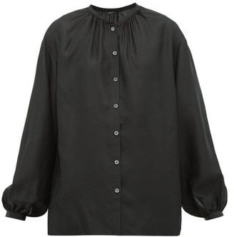 Joseph Bowell Balloon-sleeved Silk Blouse - Womens - Black