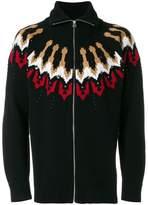 Laneus zip up cardigan