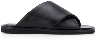 Proenza Schouler cross-strap leather sandals