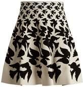 Alexander McQueen Doves-intarsia mini skirt