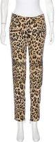 Balmain Leopard Straight-Leg Jeans