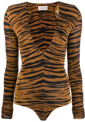 Alexandre Vauthier Tiger Print Bodysuit