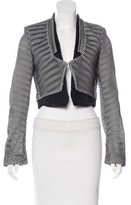 Antonio Berardi Mesh Cropped Jacket w/ Tags