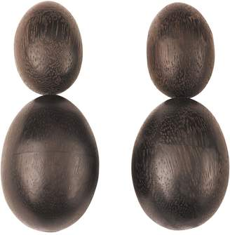 Natori Acacia Wood Double Teardrop Earrings