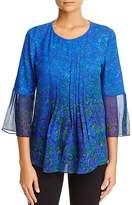 Elie Tahari Orion Pleated Bell Sleeve Blouse - 100% Exclusive