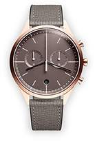 Uniform Wares C39 Quartz Watch with Grey Chronograph Dial with Grey Leather Strap
