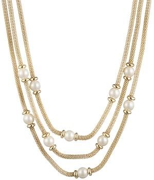 Ralph Lauren Imitation Pearl Mesh Layered Necklace, 16