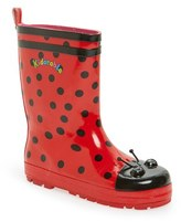 Kidorable Girl's 'Ladybug' Waterproof Rain Boot