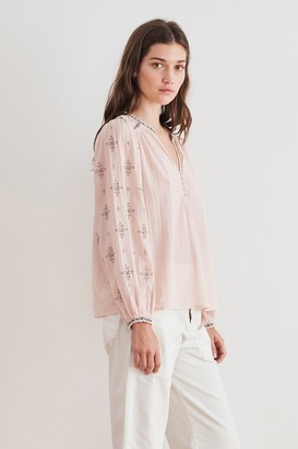 Velvet by Graham & Spencer Jacey Lurex Embroidery Blouse