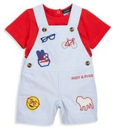 Andy & Evan Baby's Two-Piece Tee & Overalls Set