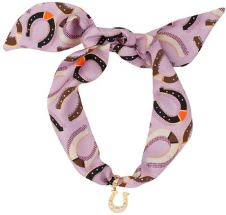 Miu Miu Horseshoe Detail Scarf Necklace