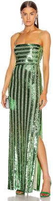 Galvan Stargaze Bandeau Dress in Jade | FWRD