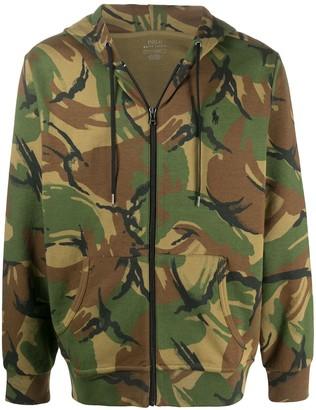 Polo Ralph Lauren Camouflage Print Zipped Hoodie